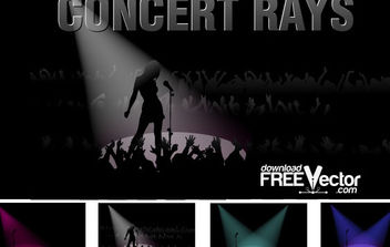 Free Vector Concert Rays - Free vector #175207