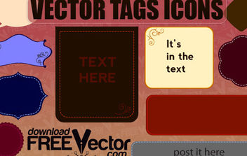 Free Vector of Tags Icons - Free vector #175277