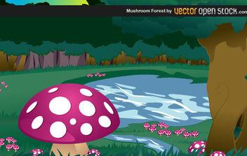 Mushroom Forest - vector #175367 gratis