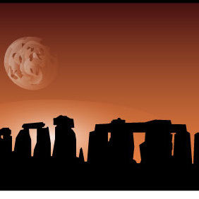 Stonehenge Site - vector gratuit #175537