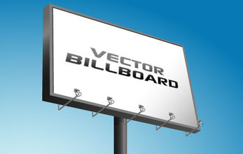 Advertising Billboard - Free vector #175617