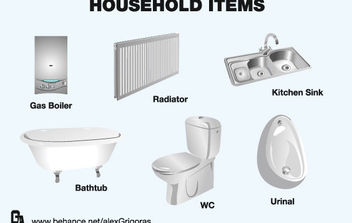 Household Items Collection - vector #175627 gratis
