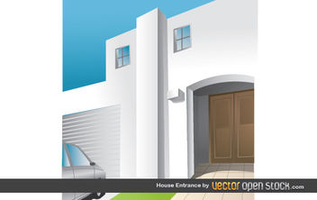House Entrance - vector gratuit #175797