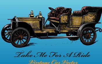 Antique Car Vector - Free vector #176097