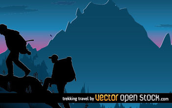 Trekking Travel - Free vector #176227