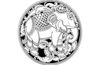 Elephant - Free vector #176247