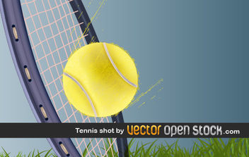 Tennis Shot - Free vector #176317