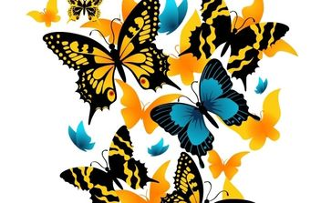 Vector material exquisite butterfly - Free vector #176447