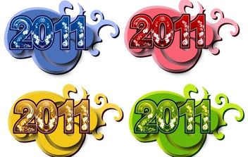 2011 New Year Symbols - vector gratuit #176587