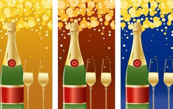 VECTOR CHAMPAGNE NEW YEARS BACKGROUND - Free vector #176627