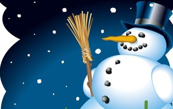 Happy Snowmen Vector - vector #176707 gratis