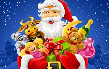 Christmas Santa Claus - Free vector #176767