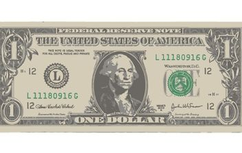 ONE AMERICAN DOLLAR BILL - vector gratuit #176827