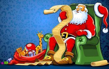 Christmas Santa Vector - Free vector #176867