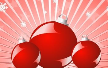 Red balls christmas vector 3 - Free vector #176887