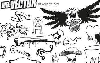 SUPER ULTRA FREEBIE VECTOR PACK DELUXE VOLUME 1 - Free vector #176947