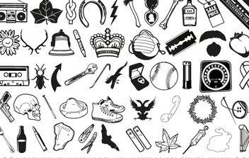 Random scrap icons and useless ephemera - Kostenloses vector #176957
