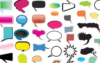 Thought and Speech Bubbles Pack - vector gratuit #177467