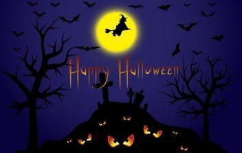 Halloween Illustration - vector gratuit #177517