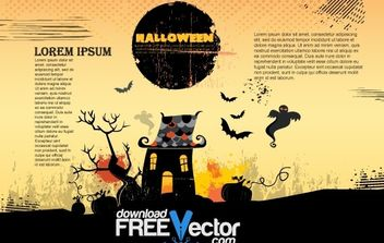 VECTOR HALLOWEEN POSTER - Free vector #177527