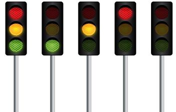 Vector Traffic Light - бесплатный vector #178077