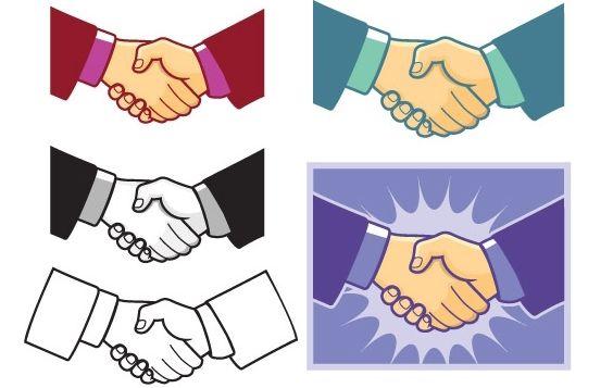 Handshake Vector - Free vector #178867