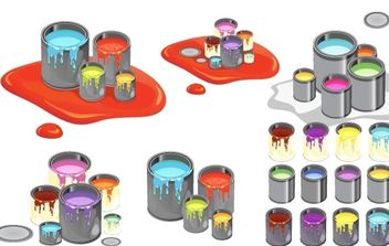 Paint Cans Vector - Free vector #178887