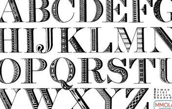 Vector Font: Roman Print - Free vector #178947