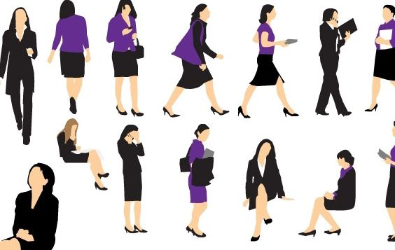 Business Woman Vectors - vector #178977 gratis