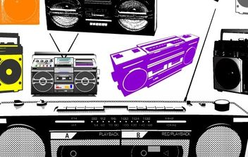 Boomboxes - Free vector #179067