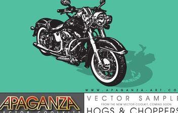 Harley Davidson Motorcycle - Free vector #179307
