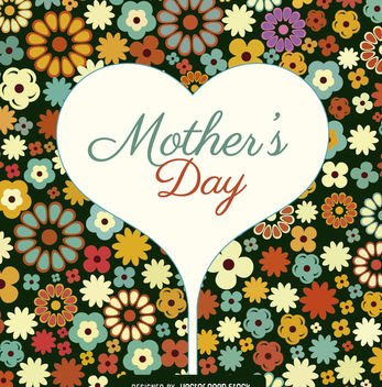Mother's Day flowers card - Free vector #179477
