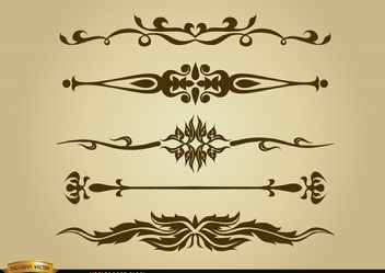 Ornamental dividers set - Free vector #179577