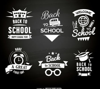 Back to school emblems - бесплатный vector #179707