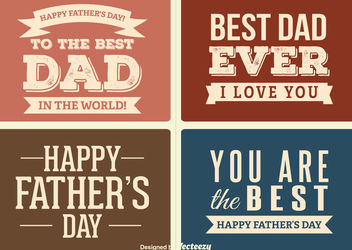 Vintage Father's Day Label Set - Kostenloses vector #179717