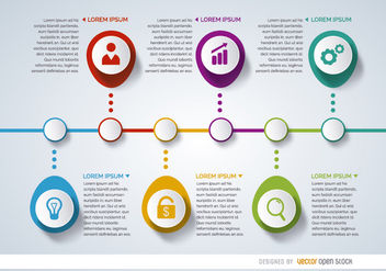 Infographic project timeline - vector gratuit #179797