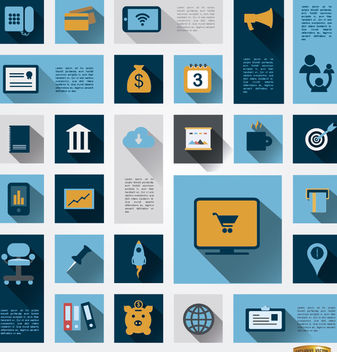 26 Business information icons - Free vector #179827