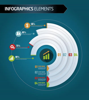 Business infographics level by sector - vector gratuit #179847