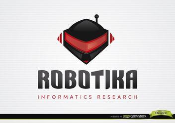 Robot Helmet Informative Logo Template - Free vector #179907