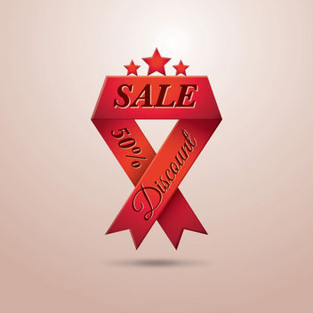 Triangle Folds Red Sales Ribbon - Free vector #180167