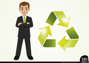 Businessman with Cyclic Arrow Beside - vector gratuit(e) #180237