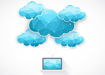 Blue Cloud Computing Concept - Free vector #180357