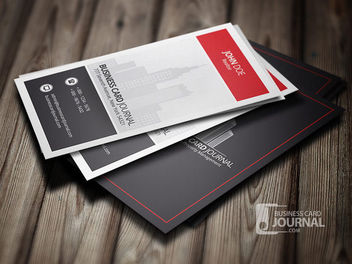 Modern Real Estate Business Card - vector gratuit #180397