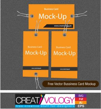 Simplistic Business Card Mockup - Kostenloses vector #180587