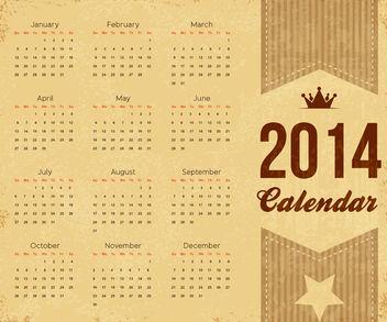 Vintage 2014 Brownie Calendar Template - Kostenloses vector #180617