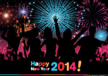 2014 new year celebration - vector gratuit #180627