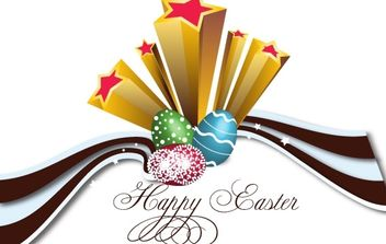 Eggcellent Easter Card - Free vector #180647