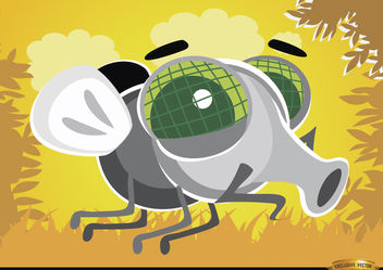 Cartoon Fly bug in the air - Free vector #180787