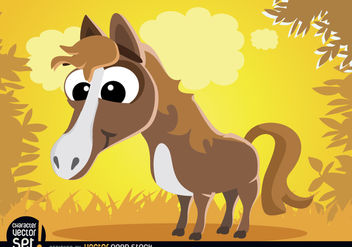 Funny Horse cartoon animal - Free vector #180807