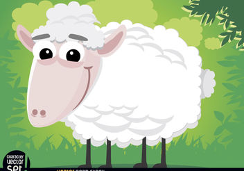 Sheep cartoon animal - Free vector #180827